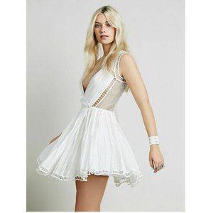 Free People FP One Lucas Crochet Wrap Mini Dress S